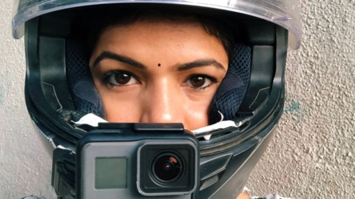 indian female motovlogger