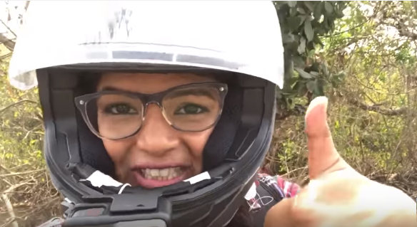 indian female motovlogger motovlog