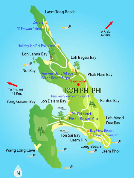 koh-phi-phi-island guide map
