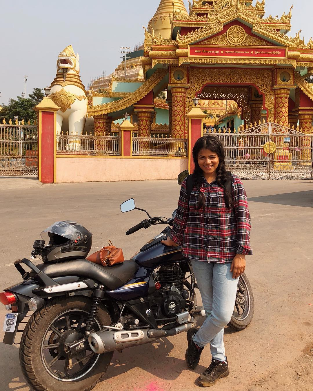 My Solo Motorcycle Ride To The Global Vipassana Pagoda in Gorai